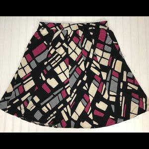 Lane Bryant geometric a line skirt 18 20